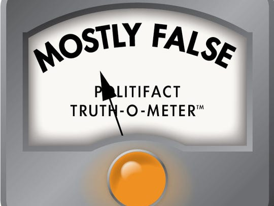 Mostly false Politifact ruling