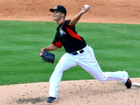 The Miami Marlins sent relief pitcher Dan Jennings to triple-A despite the left-hander's solid numbers.