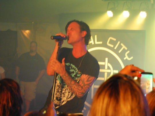 Jeff Gutt performs Friday at the Marine City Music Festival Beach Party.
