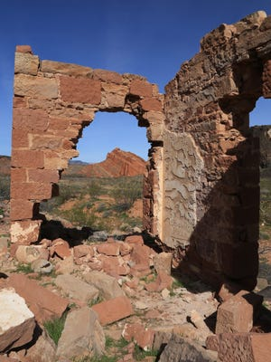 The Stormont Mill in the Babylon area of the Red Cliffs National Conservation Area is a remnant of the mining days in nearby Silver Reef.