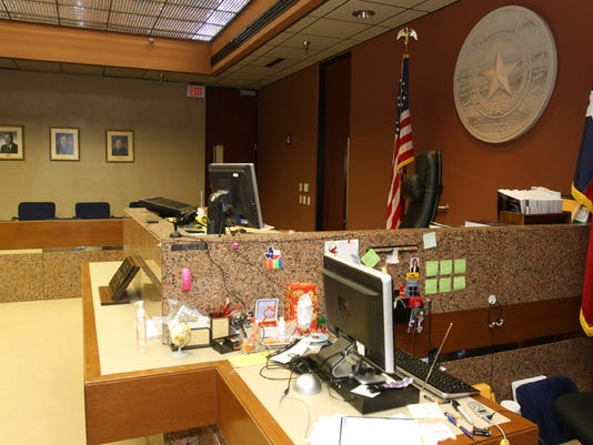 Former 65th District Court Judge Alfredo Chavez's courtroom is shown. He was a supporter of New Beginnings.