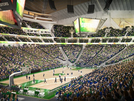 What Key Arena would look like when configured for