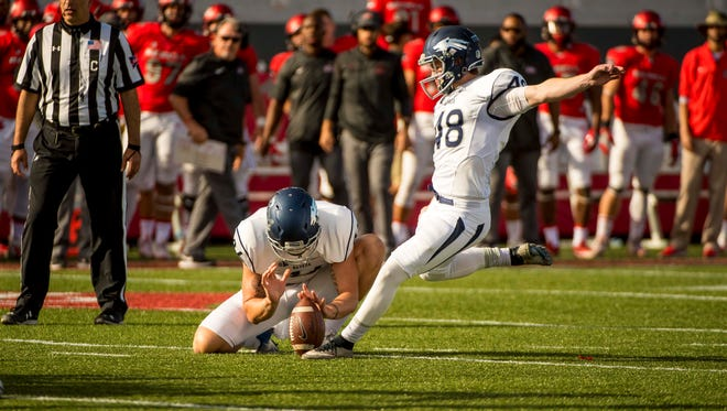 Nevada's Spencer Pettit is coming off his first full season as the team's kicker.