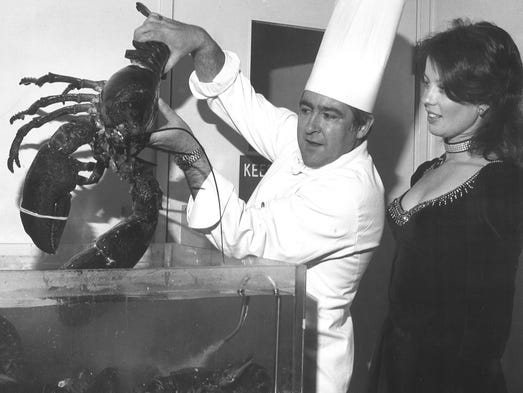 From 1976: Harrah's chef Julius Weiss and waitress