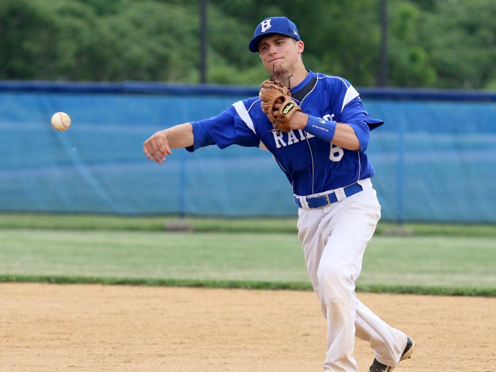Senior second baseman Matt Smith, shown during the Section 4 Class AA semifinals, was one of four Horseheads players to earn STAC Metro/West all-conference honors.