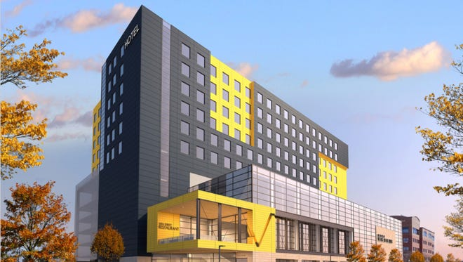The city unveiled designs Nov. 14, 2017, for a mixed-use parking ramp development in downtown Sioux Falls.