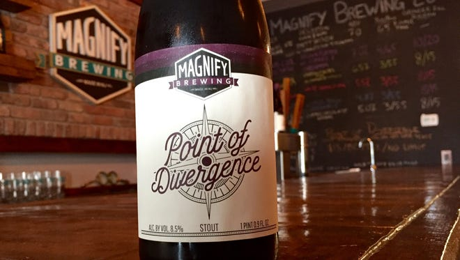 Point of Divergence stout is available for a limited time at Magnify Brewing in Fairfield.