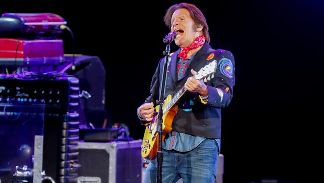John Fogerty performs during a tour stop for the WJJK Summer Bash with John Fogerty-ZZ Top: Blues And Bayous Tour at Ruoff Home Mortgage Music Center in Noblesville Ind. on Wednesday, June 13, 2018.