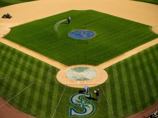 Safeco Field readies for Mariners Opening Day - Seattle, Washington
