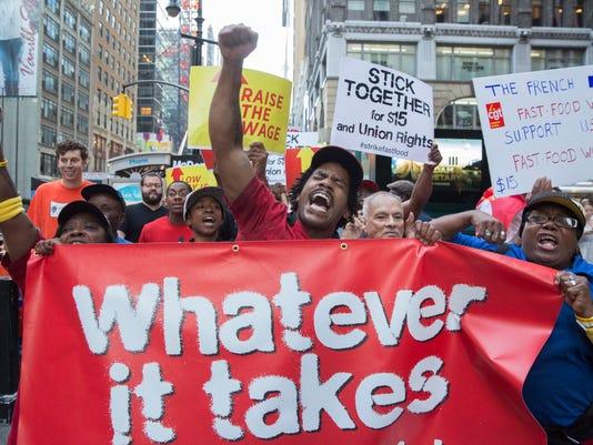 EPA USA LABOUR FAST FOOD STRIKE LAB STRIKE USA NY