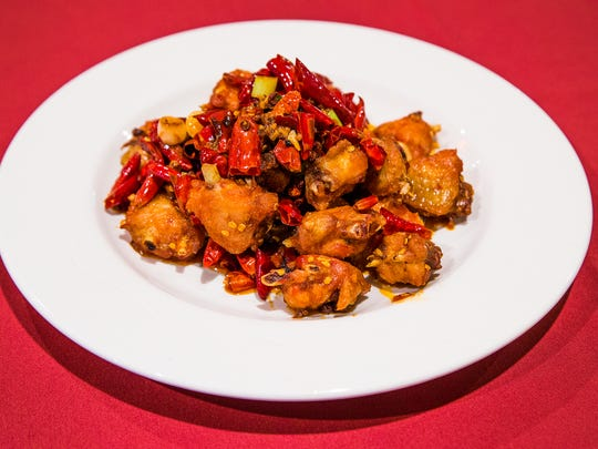 This is the chung ging spicy chicken from Chengdu Delight
