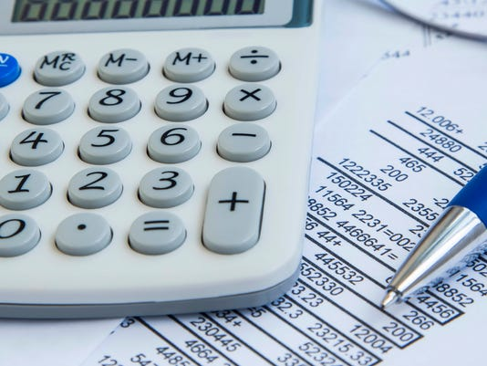 Finances accounting Stock Image
