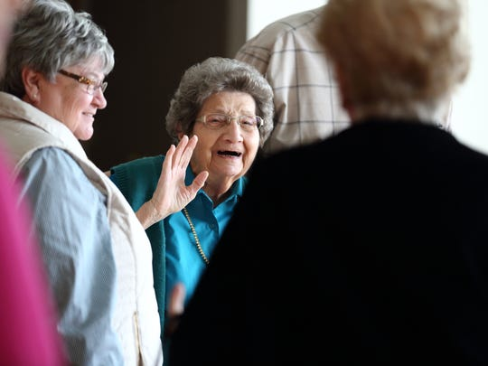 Special birthday Betty Faver celebrated her 90th birthday at the Hadi Shrine Temple recently with family and friends. She worked for The Evansville Courier & Press for 42 years in Accounting/Payroll Manager.