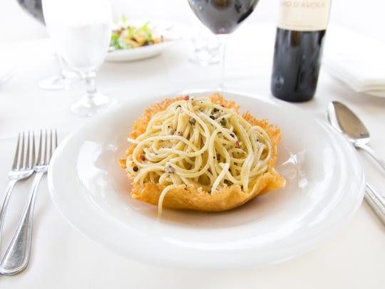 Spaghetti Cacio & Pepe at Tomaso's When in Rome in