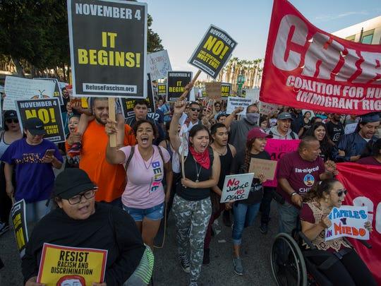 Protesta pro inmigrantes en California. Foto archivo