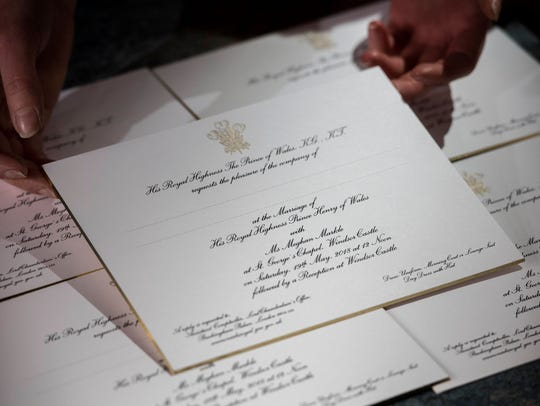 Invitations for Prince Harry and Meghan Markle's wedding,