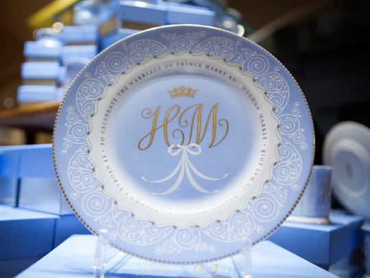 A plate with the initials H and M, part of the new