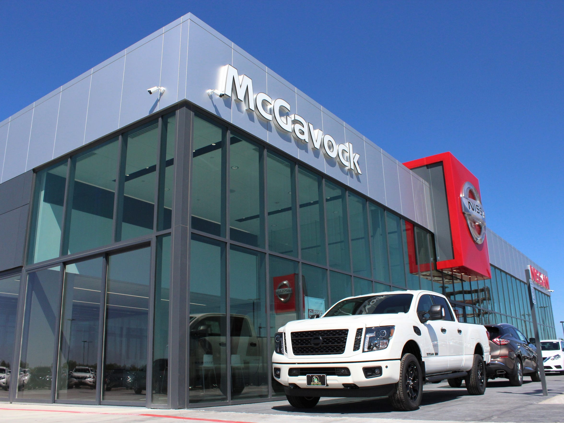 The new McGavock Nissan showroom is full of glass, with selected models parked outside. The dealership moved from Winters Freeway in southwest Abilene to off Interstate 20 in northeast Abilene in 2018.