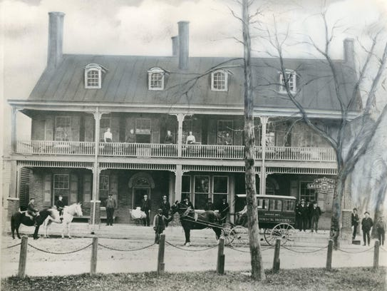 The Brick Hotel in Georgetown, circa 1870.