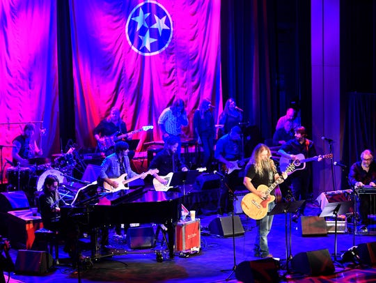 "Jamey Johnson performs at the CMHOF's ""Outlaws and"