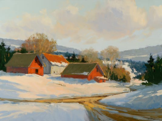 Sunlit Farm at the Crossroads by Carolyn Walton.jpg