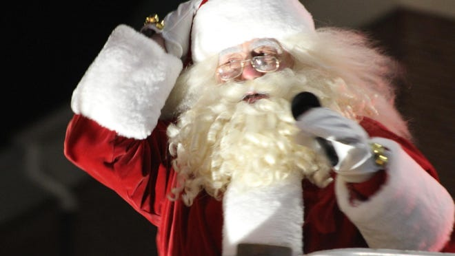 This year, Santa will make his way through town in a bucket-truck-turned-sleigh at 3:30 p.m. Saturday, Dec. 19.