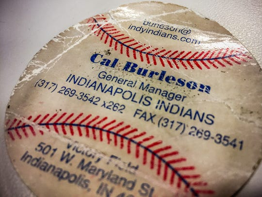 Cal Burleson's business card.