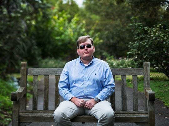 "October 22, 2017 - Face transplant recipient Pat Hardison, 43, poses for a portrait prior to speaking at the Mid-South Transplant Foundation's annual ""Celebration of Life"" event at the Memphis Botanic Garden on Sunday. The Senatobia volunteer fireman was burned beyond recognition while fighting a house fire on Sept. 5, 2001. A breathing apparatus headgear melted on his face, burning off his eyelids and ears. After years of living with the disfiguring injuries and more than 70 corrective surgeries, he decided in 2012 to pursue a face transplant. In August 2015, Hardison received a face transplant covering his skull and most of his neck at the New York University Langone Medical Center. The surgery took 26 hours and a team of more than 100 medical professionals led by Dr. Eduardo Rodriguez, who specializes in reconstructive surgery."