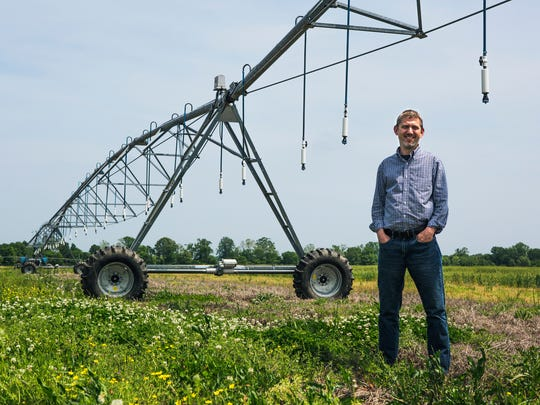 May 3, 2018 - Pete Nelson, executive director of AgLaunch, stands in a field at AgriCenter International in Memphis. AgLaunch was founded in 2015 to spur ag tech firms.