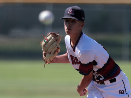 La Quinta's Naun Haro pitches against Nogales during the CIF playoffs on Thursday, May 17, 2018 in La Quinta.