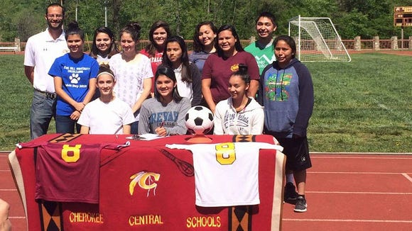 Cherokee senior Sidnie Yanez has signed to play soccer