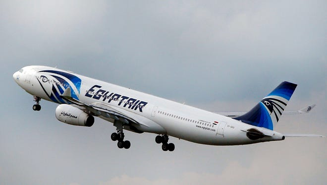n this Thursday, May 19, 2016 file photo, An EgyptAir Airbus A330-300 takes off for Cairo from Charles de Gaulle Airport outside of Paris.