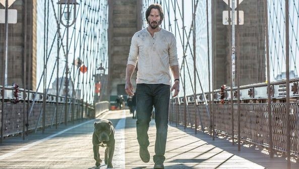 """Keanu Reeves is back, with a new dog, in """"John Wick"""