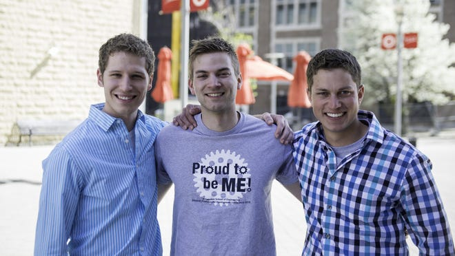 Steve Greendyk (left), of North Haledon, Jacob Nieuwenhuis, of Wyckoff, and Kevin Prol, of Pompton Plains, have been classmates since elementary school.