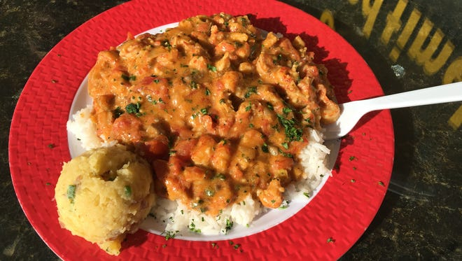 Crawfish etouffee is a Hot Dish from A Cajun Bowl in Cape Coral.