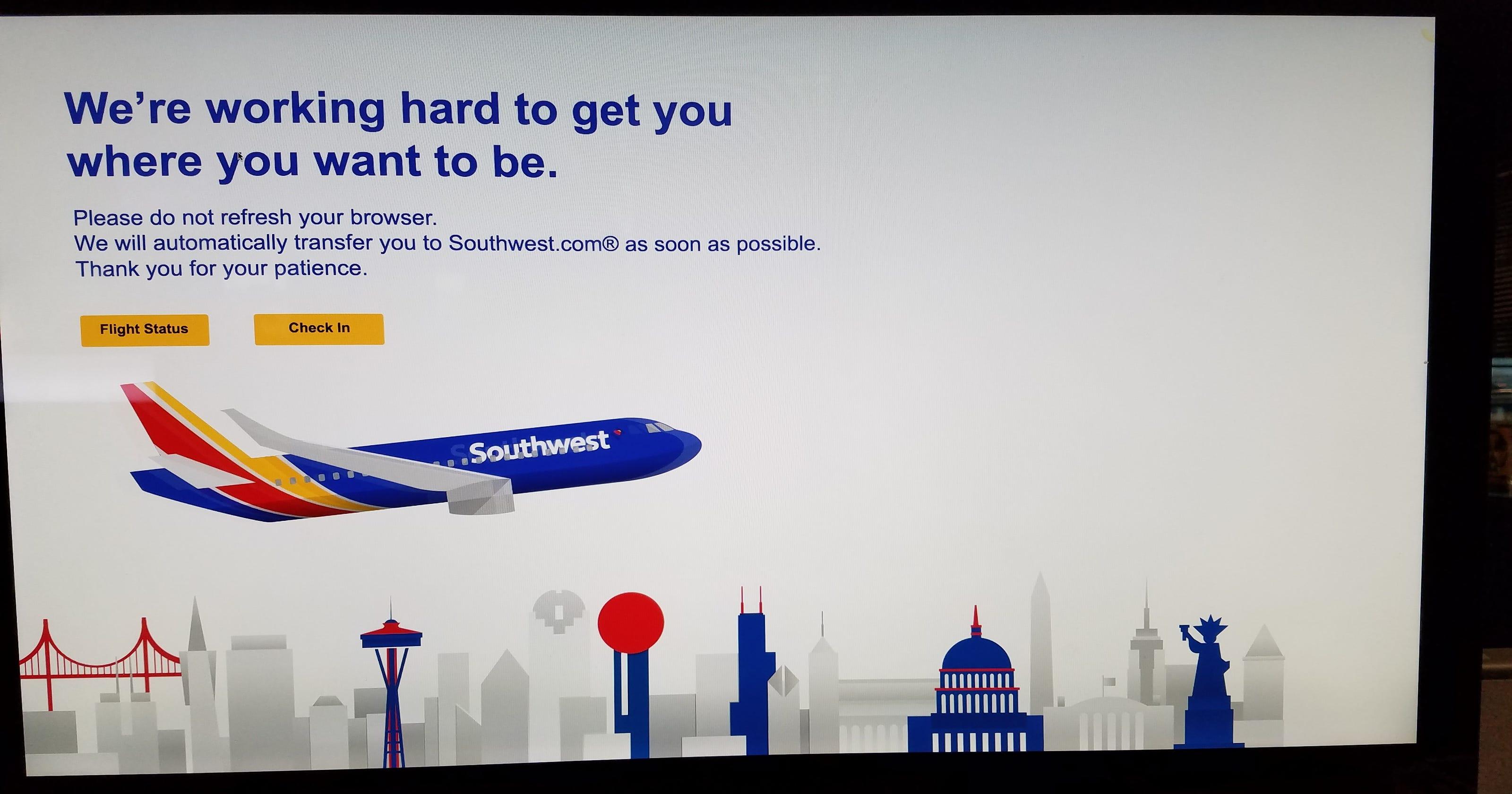Southwest Airlines website back up but problems linger