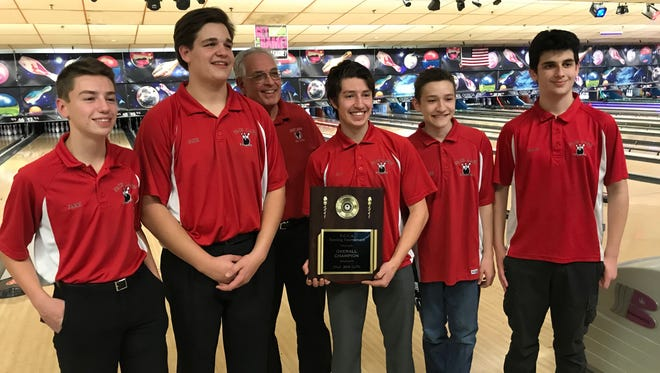 The Fair Lawn boys bowling team captured its first Bergen County championship in 29 years at Bowler City on Saturday, Jan. 13, 2018.