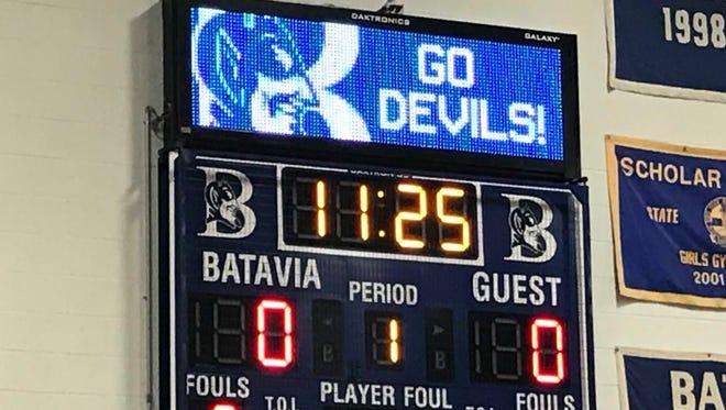 Batavia Blue Devils scoreboard