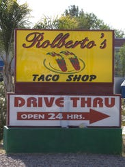 Rolberto's Taco Shop at 606 W. Main St., Mesa.