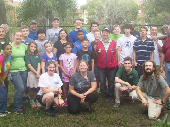 Volunteers from Lowe's worked alongside students and