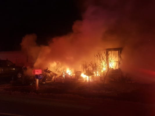 Manchester mobile home fire