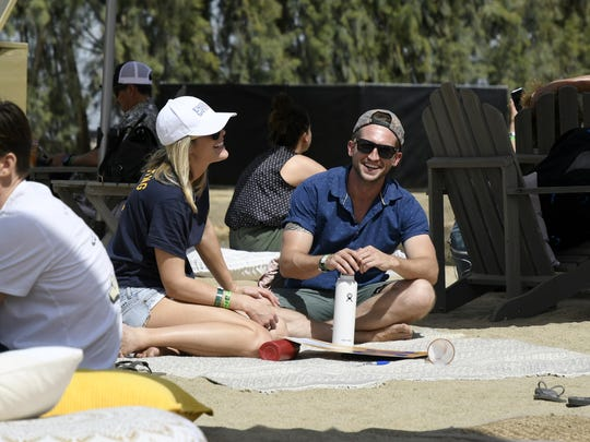 Hundreds of surf fans came from across the world to watch the first WSL Founder's Cup of Surfing at Kelly Slater's Surf Ranch in Lemoore on Saturday May 5, 2018.