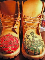 A pair of Timberland boots Clemson defensive end Xavier