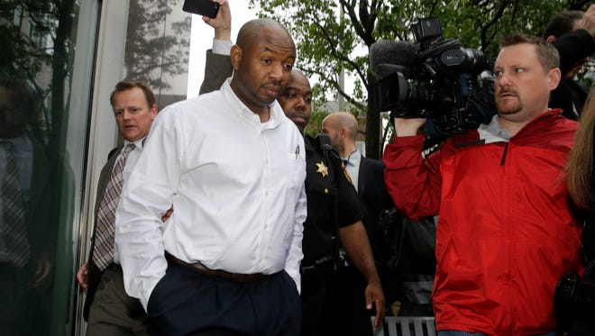 Kevin Roper leaves a court appearance  in New Brunswick, N.J in June 2014.