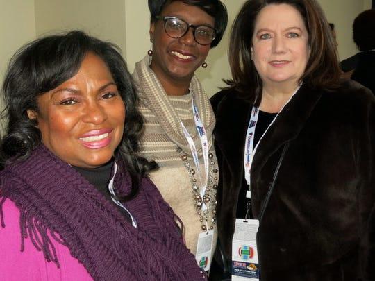 Tari Bradford, Karen Barnes, Margaret Shehee at Indy