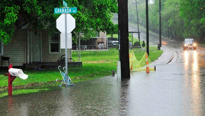 The streets are closed due to flooding at Granada Avenue and McFerrin Avenue in East Nashville.