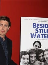 """Filmmaker Chris Lowell attends the premiere of """"Beside Still Waters"""" at the Sunshine Landmark Theater on Sunday  in New York."""