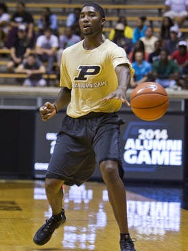 E'Twaun Moore was a late addition to the Gold roster for Purdue's second men's basketball alumni game.