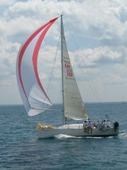 Lisa Vigrass sails on her father's boat, Station Wagon, for the 2010 Bell's Beer Bayview Mackinac Race.