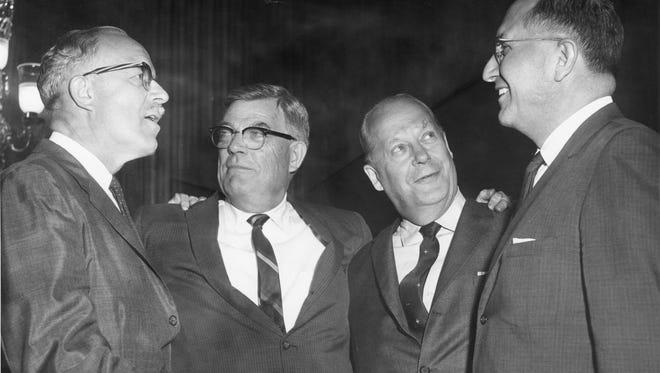 Rep. E.Y. Berry, Sen. Joseph Bottum, Sen. Karl Mundt and Rep. Ben Reifel in 1962.